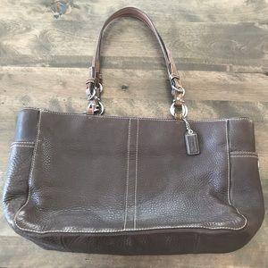 Coach brown leather tote handbag F0782-F11347